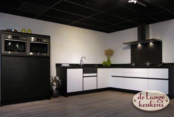 Keuken inspiratie zwart wit keuken de lange keukens