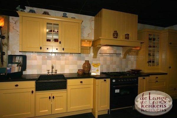 Keuken inspiratie: gele romantische keuken