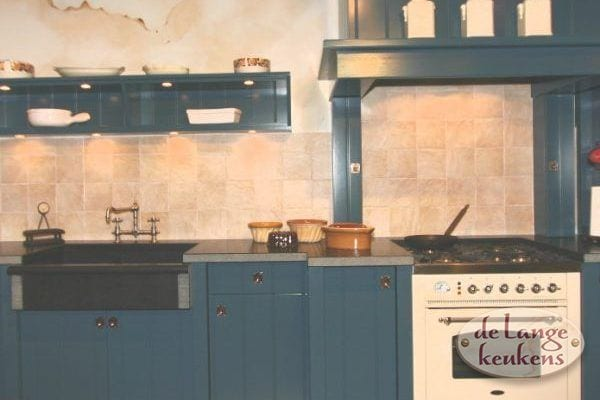 Keuken inspiratie: donkerblauwe keuken