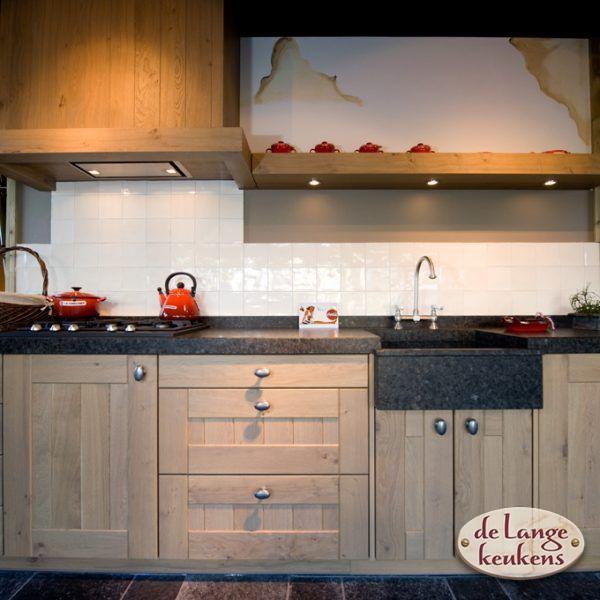 Keuken inspiratie houten rechte keuken de lange keukens for Keuken landelijk maken