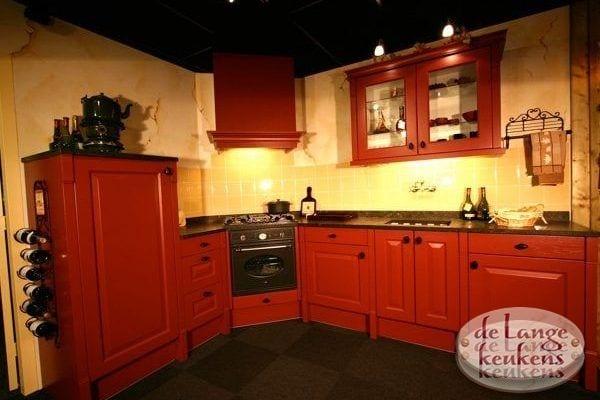 Keuken inspiratie: rode hoek keuken