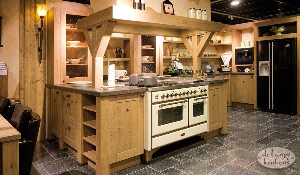 Amerikaanse Keuken Apparatuur : Landelijke houten keuken Woodline antica – De Lange Keukens