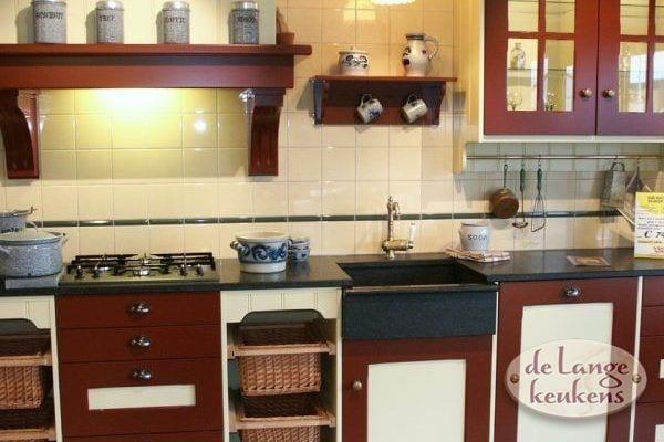 Keuken inspiratie: landelijke hoek keuken   de lange keukens