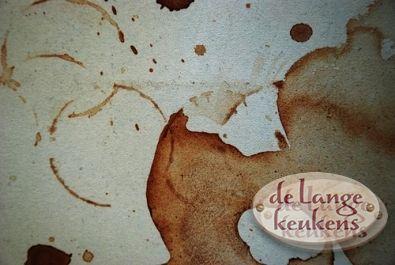 Verwijderen van koffie vlekken