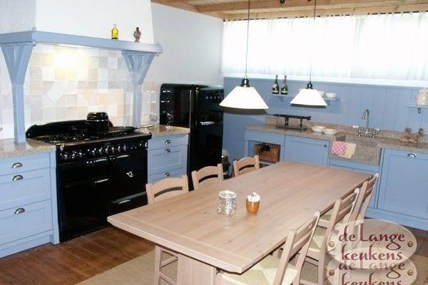 Keuken inspiratie: blauwe landelijke keuken