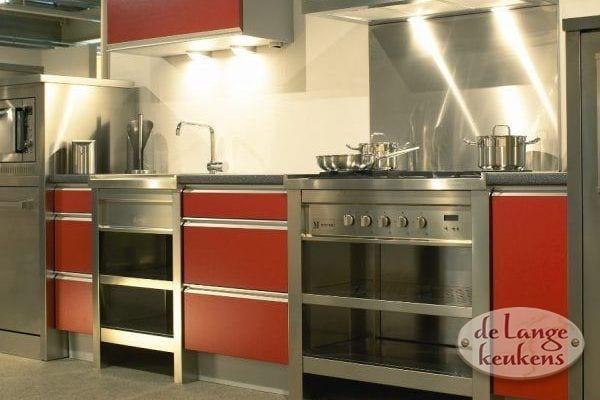 Keuken inspiratie keuken met kookeiland de lange keukens - Keuken m ilot centrale ...