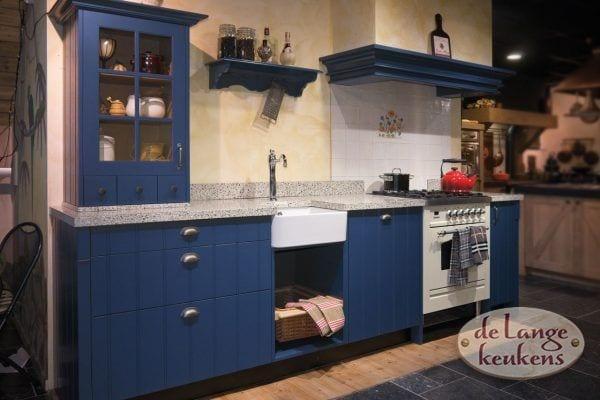 Klassiek blauwe keuken Elzas
