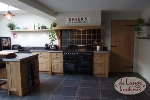 Landelijke eiken houten keuken