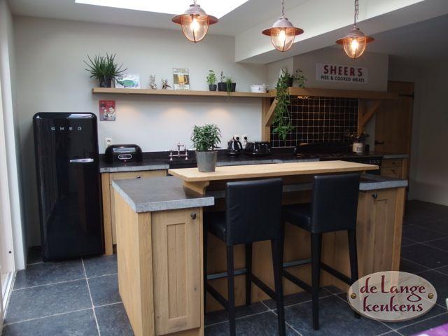 Landelijke eiken houten keuken - De Lange Keukens
