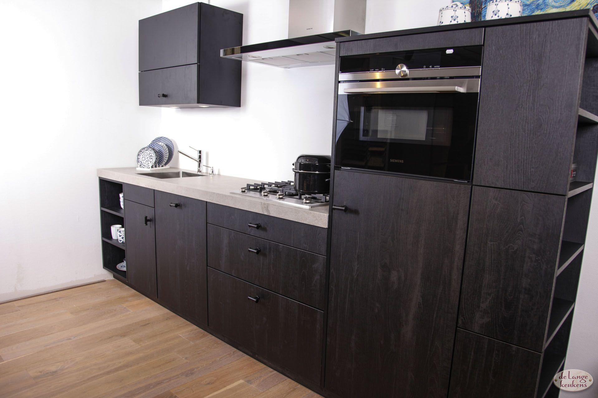 Gele Keuken 6 : Landelijke keuken sherwood black de lange keukens