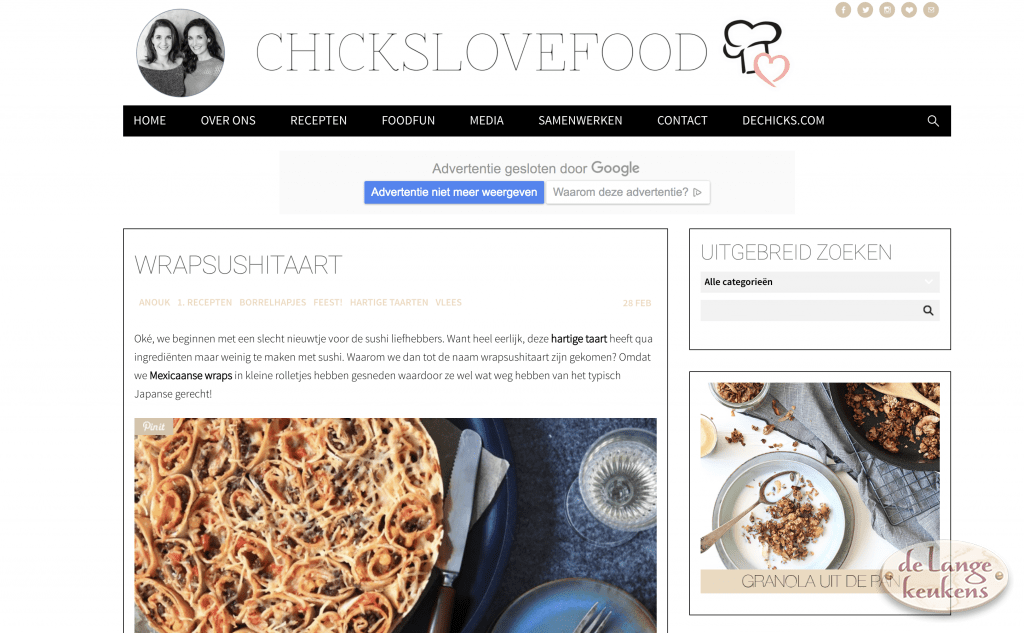 Top 10 foodblogs - Chickslovefood