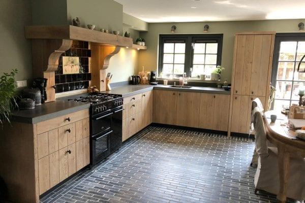 Landelijke rustiek eiken gebrande keuken Almere
